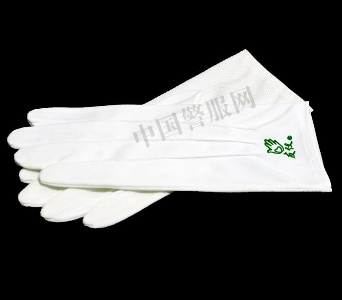 警察白针织手套