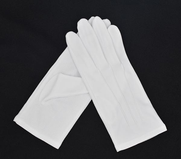 防滑白手套