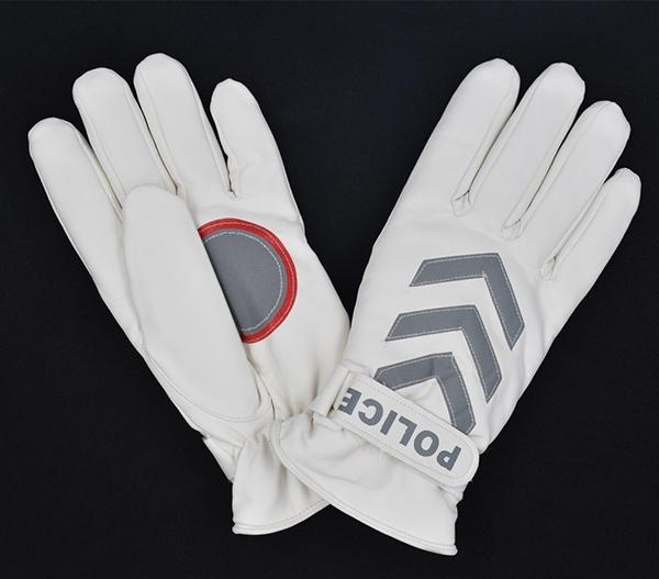 反光白色PU手套